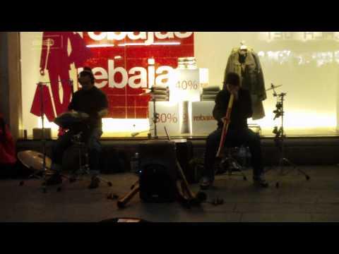 La Rambla street music in Barcelona 01/2012