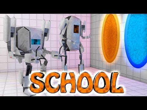 Minecraft School   Military School of Mods - PORTAL GUN ESCAPE!