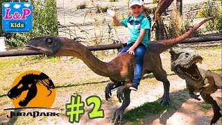 Visit the JURAPARK - Dinosaurs for kids | Life Size Dinosaurs Trip to Dinosaur Park in Poland- PART2