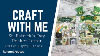 Craft with Me: St. Patrick's Day Pocket Letter Happy Planner  RaleneCreates