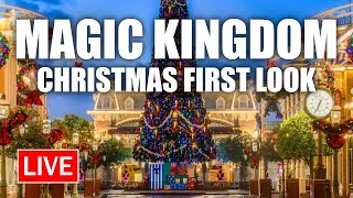 🔴 Live: Christmas at Magic Kingdom (2020 FIRST LOOK) | Walt Disney World Live Stream