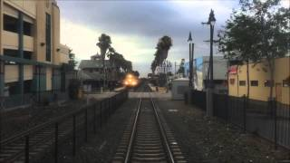 Caltrain HD 60 FPS: Gallery Car 4008 Cab Ride on Baby Bullet Train 375 (San Jose - San Francisco)