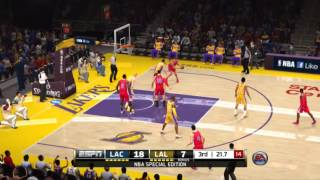 NBA Live 14 Next Gen Gameplay - Lakers vs Clippers | PS4 Gameplay