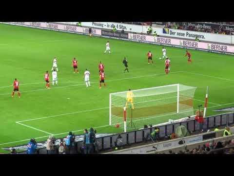 VFB vs. Freiburg - 36.': Kopfball Ginczek (2017 live @ Mercedes-Benz Arena - Stuttgart)