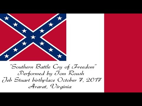 """Southern """"Battle Cry of Freedom"""" - Performed Live by Tom Roush"""