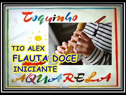Aquarela Notas Na Flauta Doce INICIANTES .