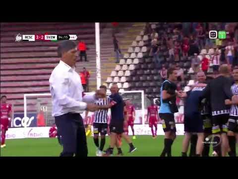 Winning goal Rezaei/ Charleroi 3-2 Zulte-Waregem ( + Mazzu dancing)