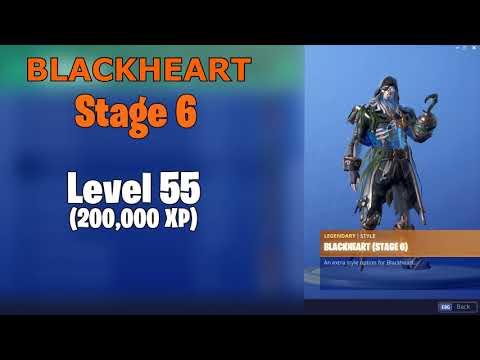 fortnite skin upgrades blackheart hybrid by levels - blackheart fortnite max stage