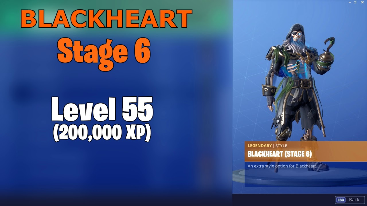 Fortnite Skin Upgrades - Blackheart, Hybrid (By LEVELS)