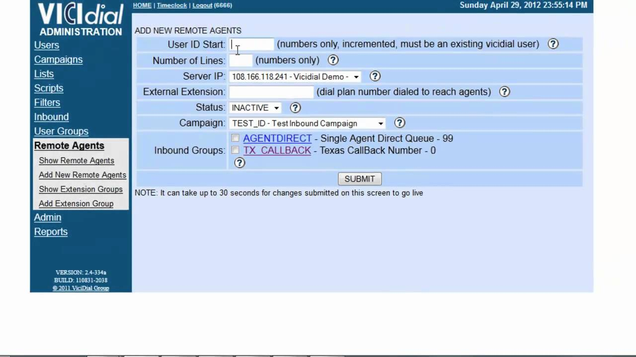 How to configure Vicidial Remote Agents
