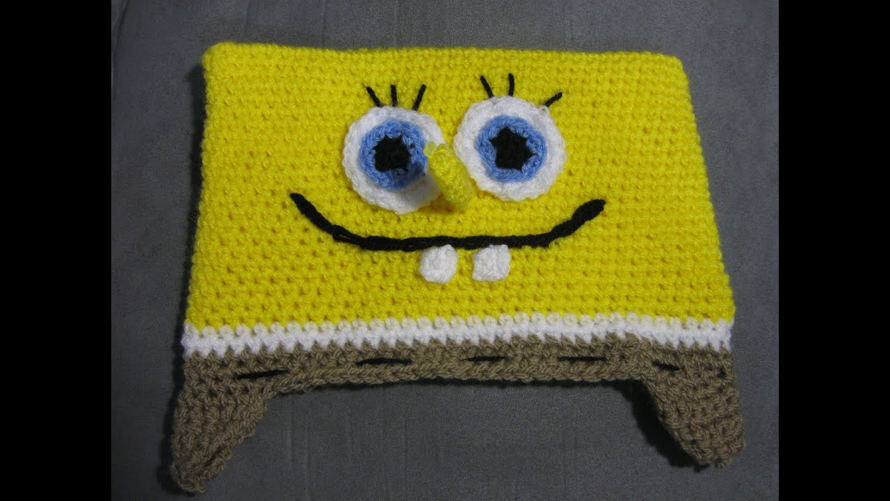 Bob the Sponge Hat Tutorial - Free pattern and tutorial ...