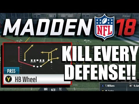 Madden 18 Money Play!! Gun Split Close Pats - HB Wheel | NE Playbook