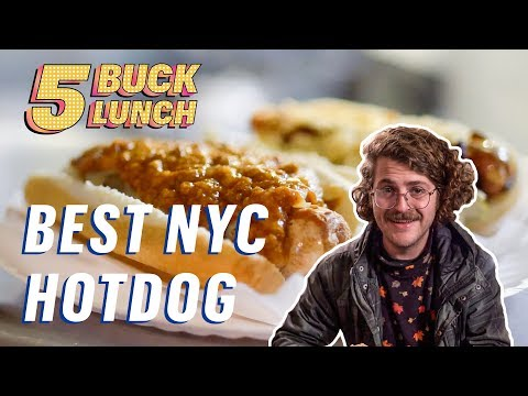 The Best Hot Dog in NYC || 5 Buck Lunch