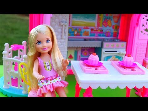 Thumbnail: Barbie Toys & Dolls - Chelsea's Friends Don't Want to Play What She Wants to Play in her Clubhouse
