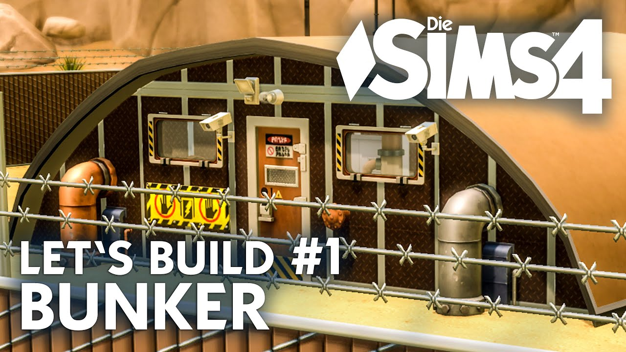 die sims 4 let 39 s build bunker 1 haus bauen unter der. Black Bedroom Furniture Sets. Home Design Ideas