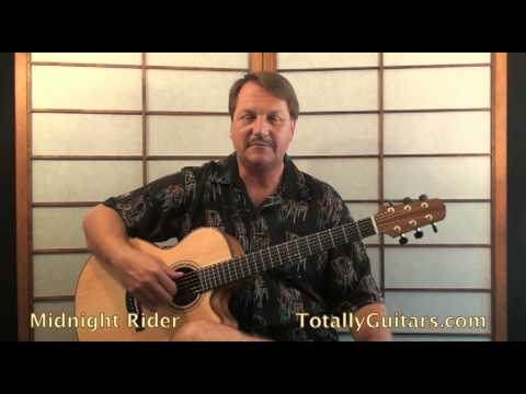 Allman Brothers - Midnight Rider Acoustic Guitar lesson - YouTube