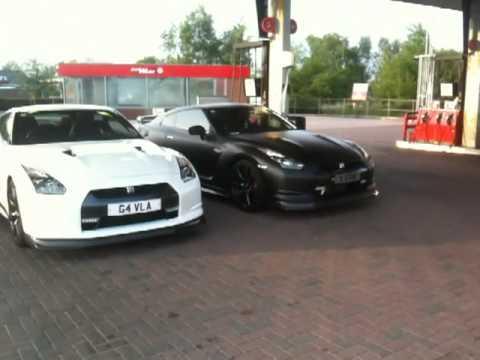 Satin Black and White GTRs
