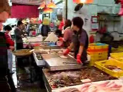 Wet Market in Hong Kong