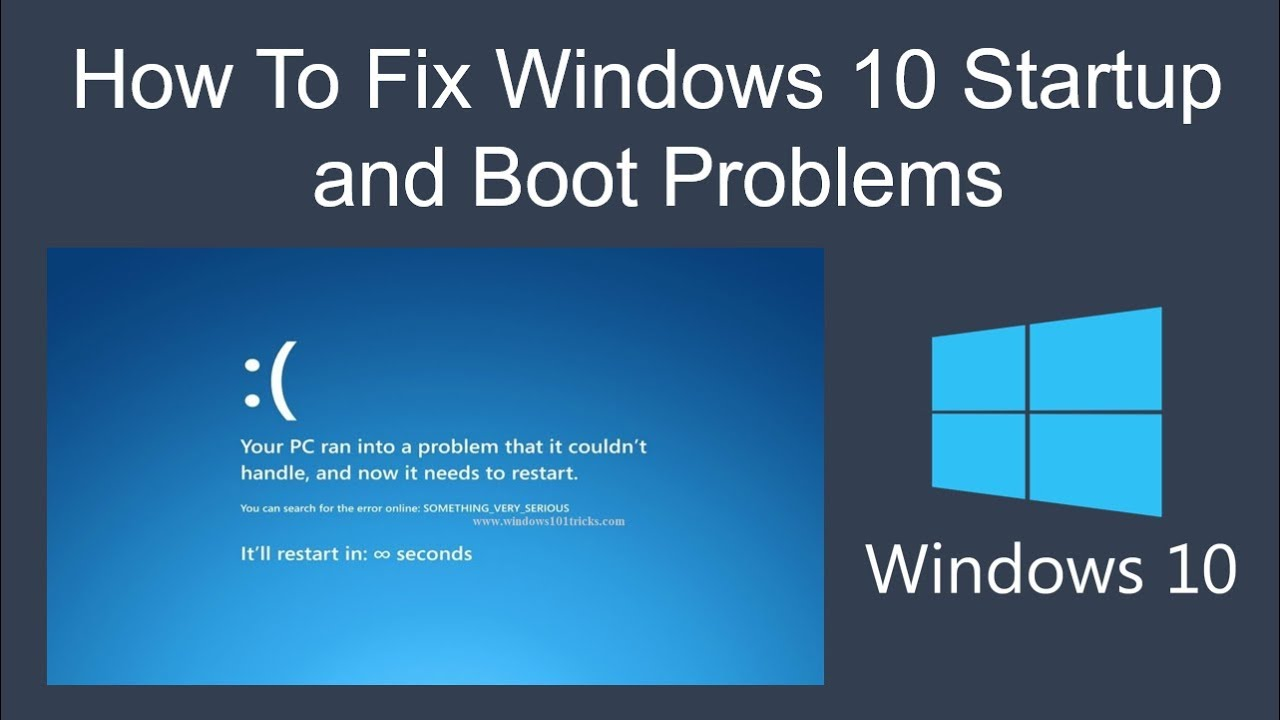 how to fix windows xp startup problem