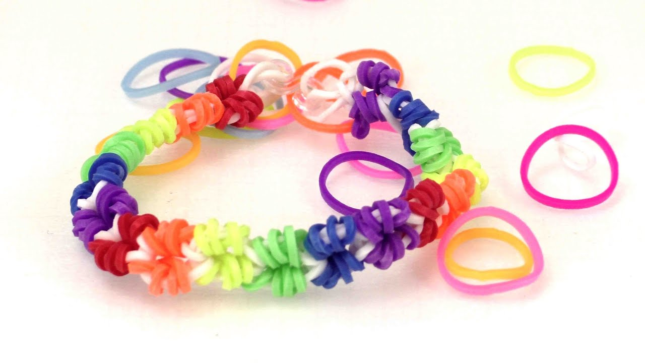 loom armb nder anleitung deutsch loom bands mini sterne armband mit h kelnadel youtube. Black Bedroom Furniture Sets. Home Design Ideas