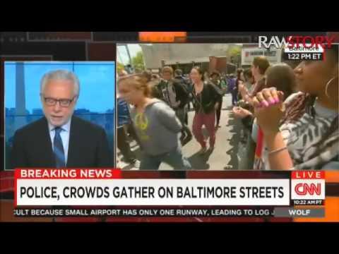 Wolf Blitzer interviews Deray McKesson about violence in Baltimore