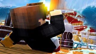 Minecraft: DESAFIO DO NAVIO CONTRA TSUNAMI GIGANTE ‹ JUAUM ›