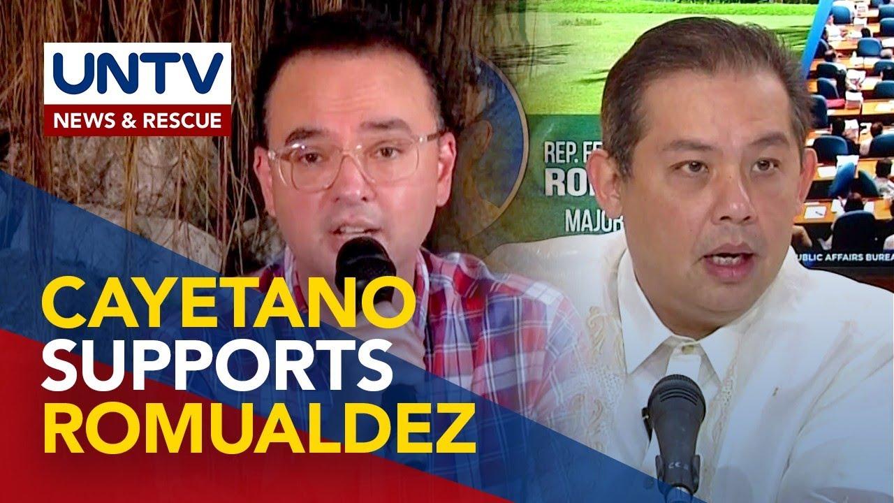 Rep. Romualdez, ini-endorso ni ex-House Speaker Cayetano para sa VP race