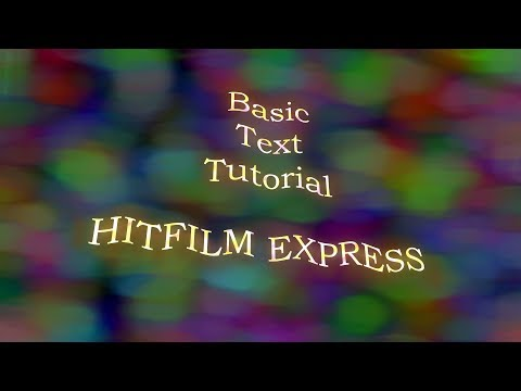 Create TEXT Animation» Beginners TUTORIAL» Free Software #AAVFX #HITFILM