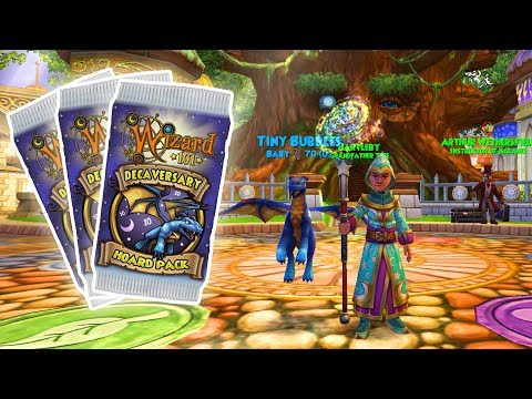 Wizard101: MOST PERM MOUNTS IVE EVER GOTTEN! - Decaversary Hoard Pack