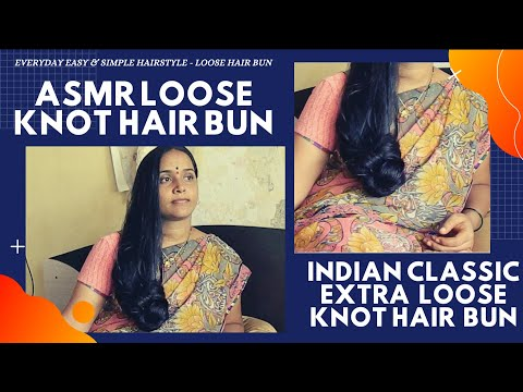 Everyday Extra Loose Hair Bun | Pendulum Bun Hairstyle | DIY Simple Loose Hair Bun For Long Hair