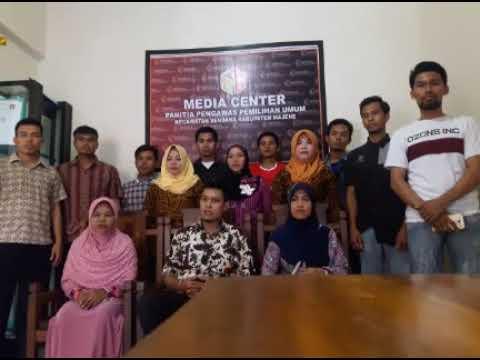 Polres Majene~Deklarasi anti Hoax Panwaslu Kec  Sendana