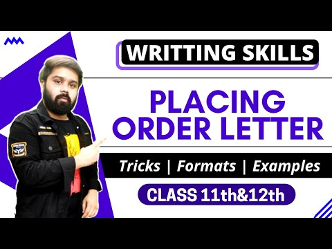 Placing Order Letter In Hindi And English Youtube