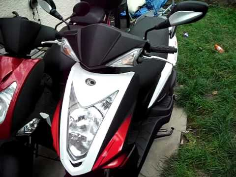 kymco agility 125 rs cold start - youtube