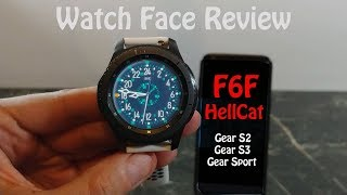 Watch Face Review : F6F Hellcat Gear S2 Gear S3 Gear Sport