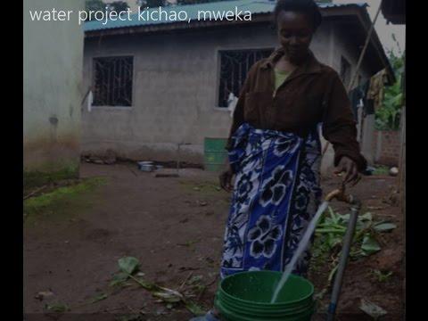 Water project Kichao, Mweka, Tanzania