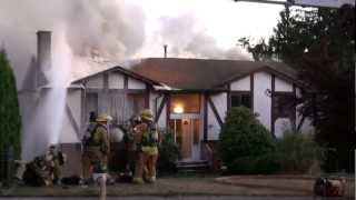 BURNABY HOUSE FIRE 2ND ALARM ON BROADWAY ST SEPTEMBER 12 2012 COPYRIGHT BCNEWSVIDEO