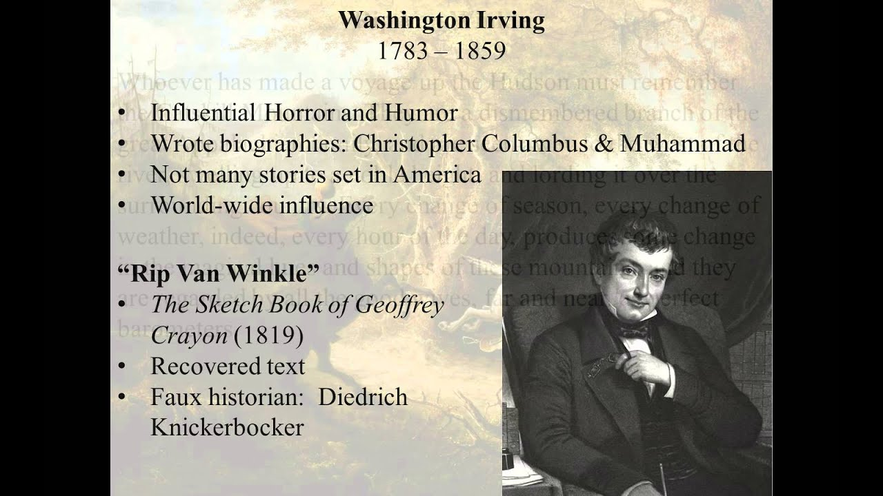 washington irving rip van winkle washington irving rip van winkle