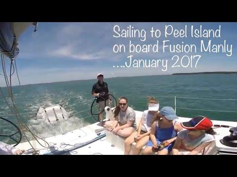 Aboard the FUSION sailing to Peel Island
