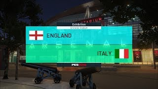 England vs Italy I International Friendly Match I PES 2018 Full Match Gameplay