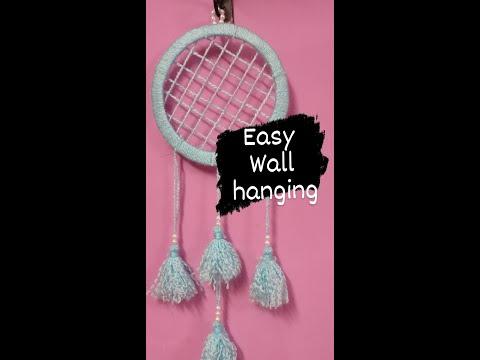 easy-diy-wall-hanging-craft-ideas|wool-wall-hanging|diy|wool-craft-wall-hanging-easy