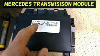 MERCEDES W163 TRANSMISSION CONTROL MODULE REPLACEMENT AND LOCATION ML320 ML430 ML350 ML500