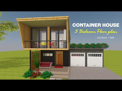 3 Bedroom Shipping Container Home Plans Design- OUTBOX 1280