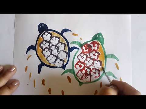 10 Vegetable Printing / Vegetable Painting Ideas With Lady Finger  | Summer Crafts & Drawing Hacks