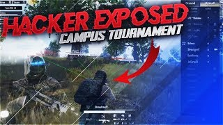 CAUGHT HACKER IN PUBG MOBILE OFFICIAL CAMPUS TOURNAMENT