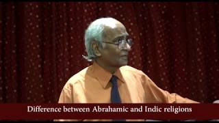 Difference between Abrahamic and Indic religions