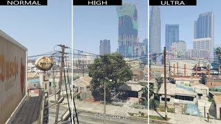 GTA V: Comparación gráfica: Normal / Alto / Ultra [PC] GTX 760, 1080p