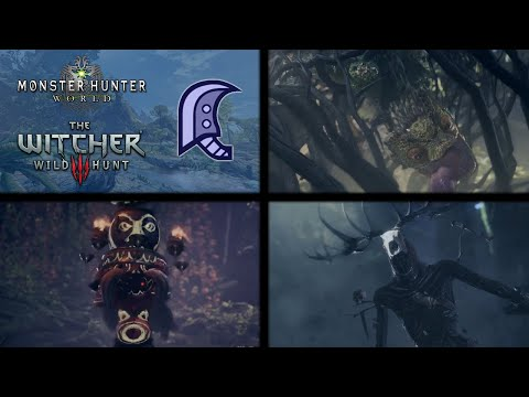 MHW x The Witcher 3 | Leshen Hunt with Pukei-Pukei, and Side Quests Solo thumbnail
