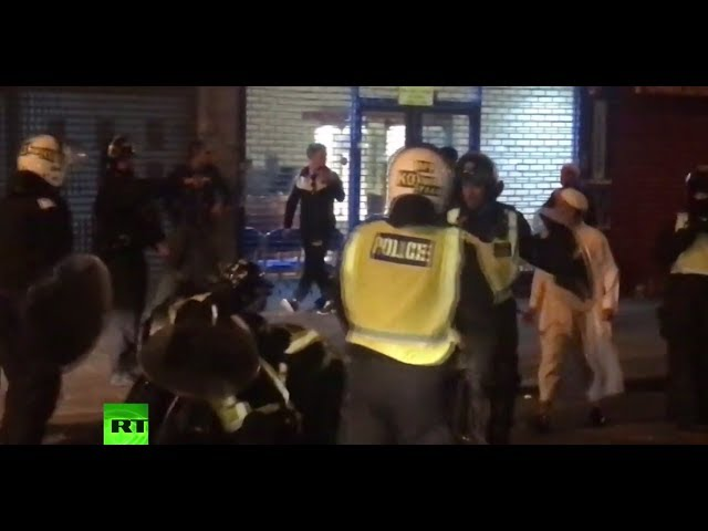 6 police officers injured in London protest over man's death after traffic stop