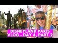 DISNEYLAND PARIS 25th ANNIVERSARY VLOG | Stuck on the carousel! | Day 4, Part 2!