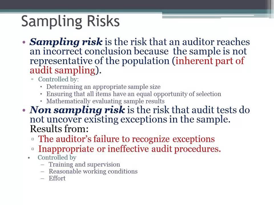 sampling risks in auditing youtube